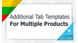 Addtional Tab Templates For Multipple Products