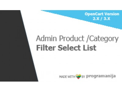 Admin Product And Category Filter Select List (checkboxes)