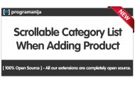 Admin Product Category Select List