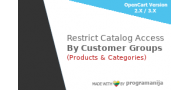 Restrict Categories and Product Access by Customer Group