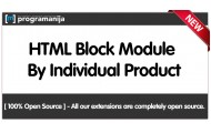HTML Blocks Per Products