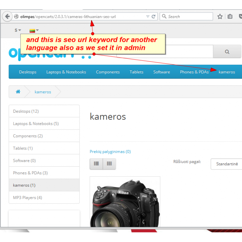 What Is Seo Url In Opencart