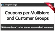 Advanced Coupons - Multistore / Customer Group Addon