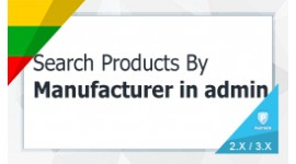 Search Products By Manufacturer under Admin Autocomplete