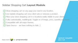 Sidebar Shopping Cart Module