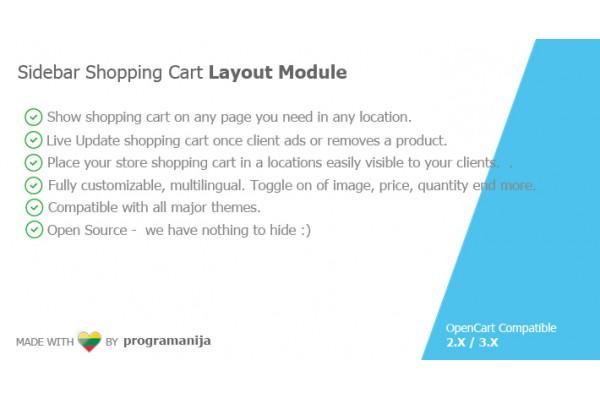 Sidebar Shopping Cart Module