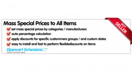 Set Mass Discount, Special Prices to Items