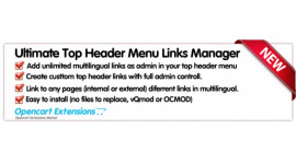Ultimate Top Header Menu Links Manager