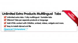 Unlimited Extra Products Multilingual  Tabs