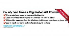 County Sale Taxes (worldwide)+ Registration