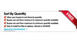 Sort Products By Quantity