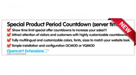 Special Product Period Countdown (iworks in All Modules)