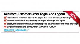 Redirect Customer After Login And Logout