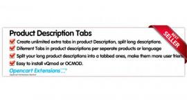 Tabs In Product Descriptions - OC-2.X