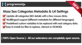 Mass Seo Categories Metadata & Urls Generation