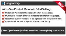 Mass Automatic Seo Products Metadata And Url Generation