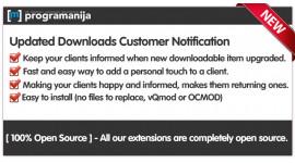 Updated Downloads Customer Notifications