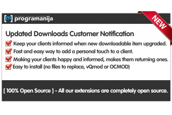 Updated Downloads Customer Notifications