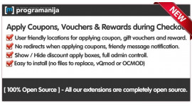 Apply Coupon, Voucher and Reward Points During Checkout