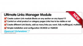 Ultimate Links Module manager Block