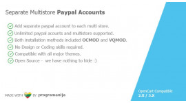 Separate Multistore Paypal Accounts
