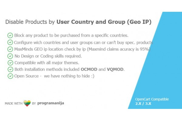 Disable Products By User Country and User Group (Based on Ip)