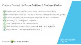 Custom Contact Us Form Builder - Custom Fields