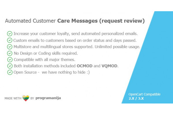 Automated Customer Care Messages(Request Review)