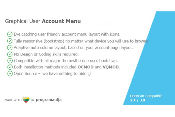 Graphical User Account Menu