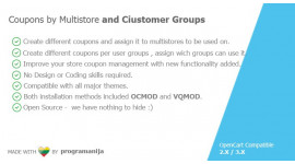 Advanced Coupon Code - Per Stores and User Groups