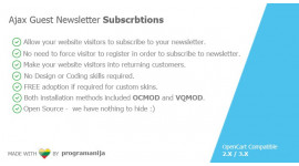 Ajax Guest Newsletter Subscriptions
