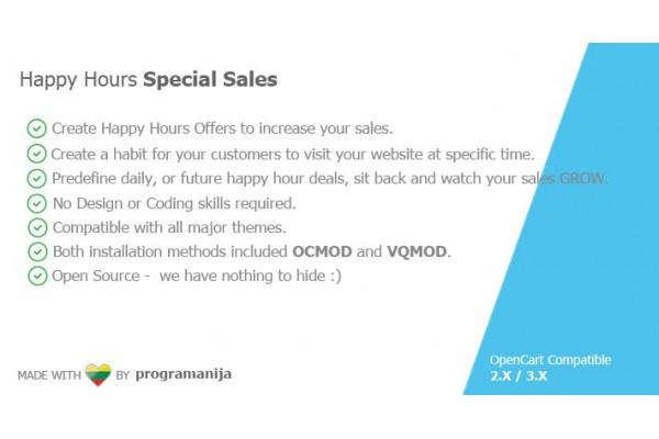 Happy Hours Special Sales