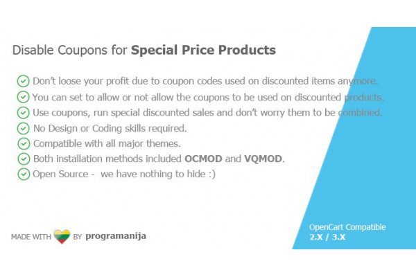 Disable Coupons for Special Price Products
