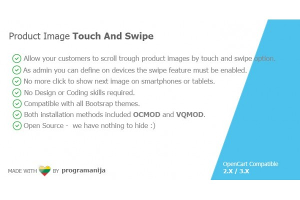 Product Image Touch And Swipe