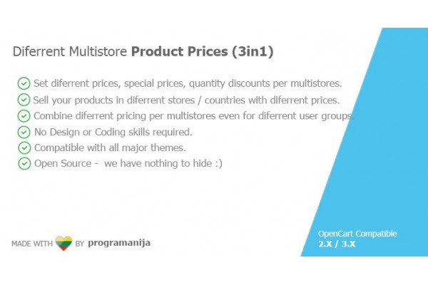 Diferrent / Individual Multistore Product Prices (3 in 1)