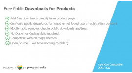 Public Downloads For Product / Free Downloads