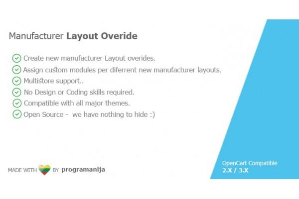 Manufacturer Layout Overide