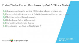 Sell Out Of Stock Products based by Status And User Group